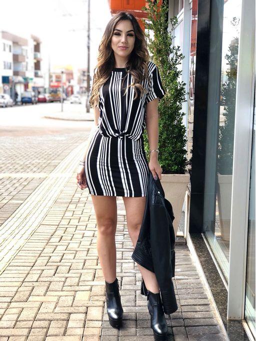 d62c36c7deb9 Vestido Listrado Daya - Estacao Store