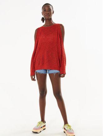 Sweater-Flame-Ombro-Vazado-Vermelho