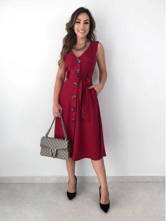 Vestido-Twill-Maxi