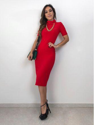 Vestido-Gola-Alta-Rita-Vermelho