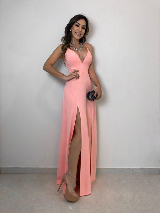 2995ad88d Vestido Longo Fabi Rosa - Estacao Store