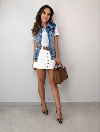 Colete Jeans Anne
