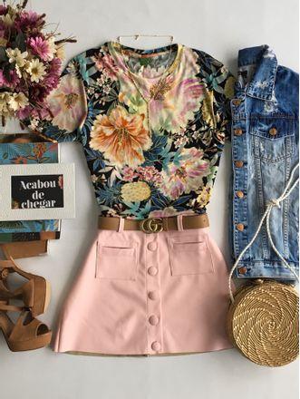 T-shirt-Maxi-Floral-Frescor