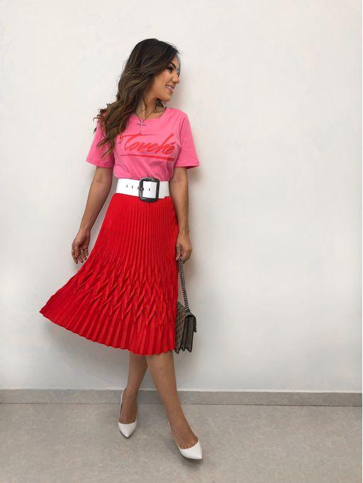 2f5180773c Saia Plissada Sabrina - Estacao Store