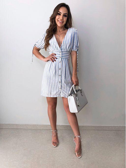 ece419fee Vestido Listrado Vilma - Estacao Store