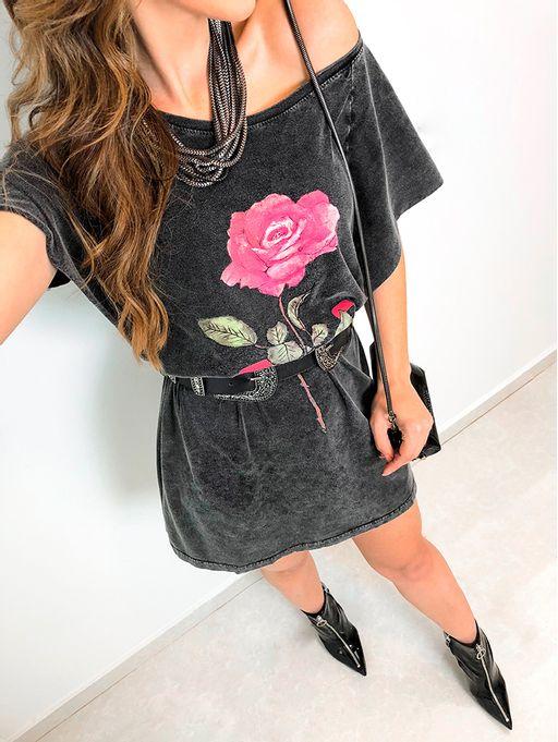 68f6a88ca Vestido Manga Gode Rosa - Estacao Store