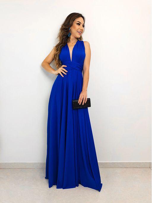 6584f7759e Vestido Longo de Festa Maluma Azul Royal - Estacao Store