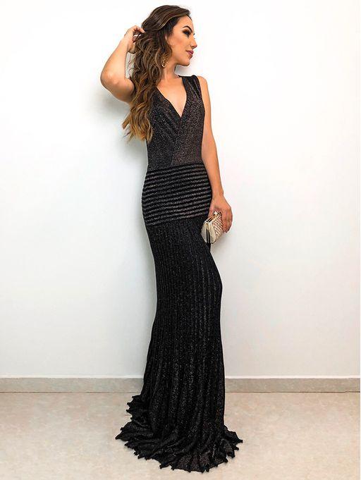 Vestido-Longo-Glam-Lurex-Jaque-Preto