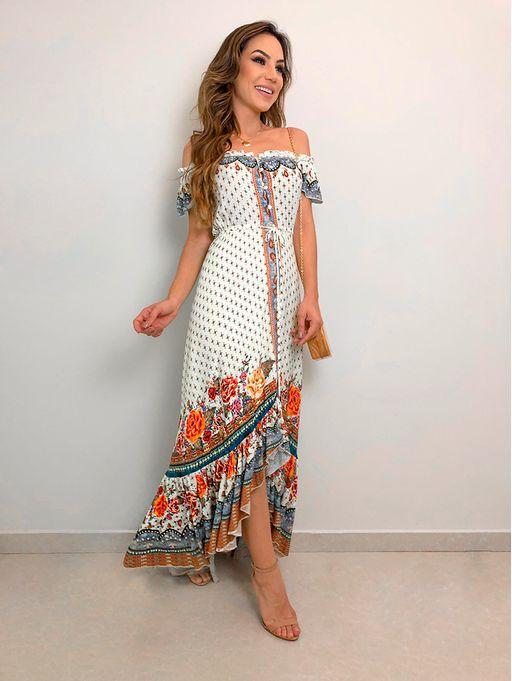 af99b1d12 Vestido Fluido Borboleta Mistica Farm - Estacao Store