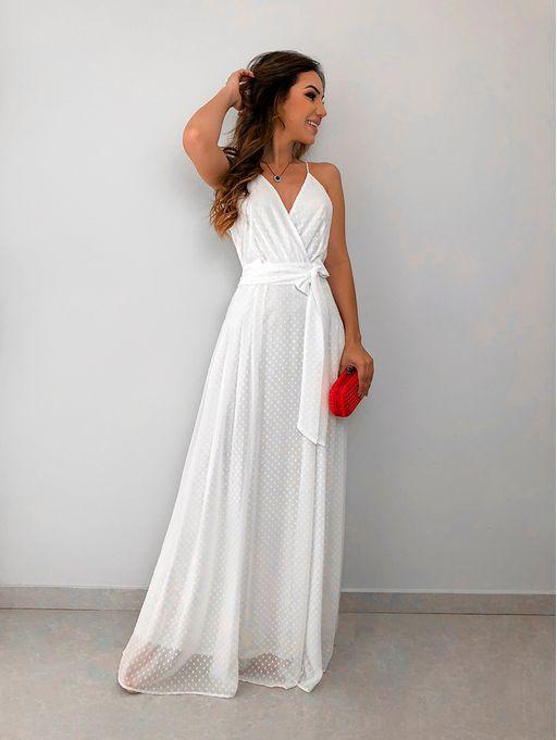 276126b234 Vestido Longo Poa Dani Off - Estacao Store