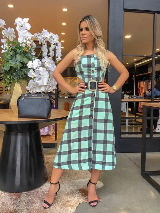 Vestido-Midi-Xadrez-Luciana-Verde