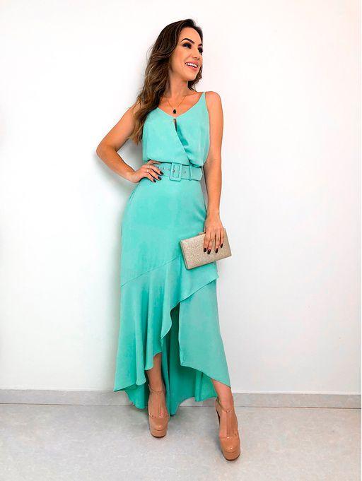 fcd8d50df Vestido Crepe Longo Assimetrico - Estacao Store