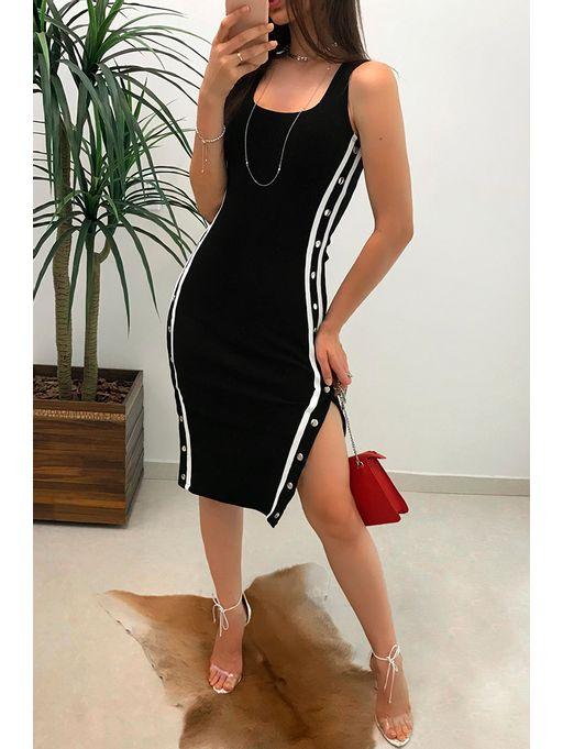 e25652191364 Vestido Midi Canelado Patricia - Estacao Store