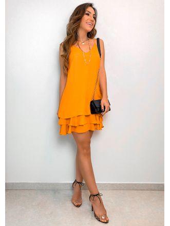 Vestido-Crepe-Babados-Luma-Amarelo