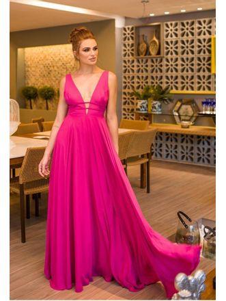 Vestido-Longo-Liso-Giulia-Pink