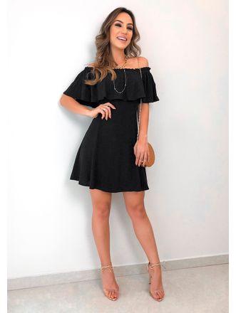 Vestido-Viscose-Katarina-Preto