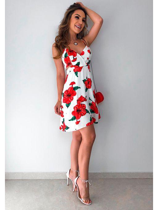 353391b748 Vestido Curto Floral Hibisco Farm - Estacao Store
