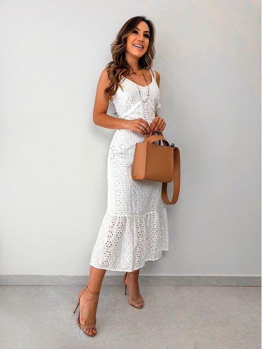b16a7cc837 Vestido Celia Off White - Estacao Store