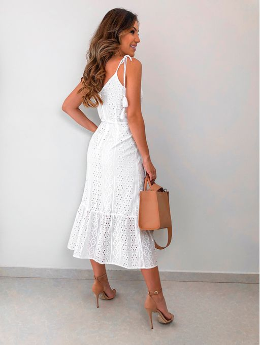 edfc3b107 Vestido Celia Off White - Estacao Store