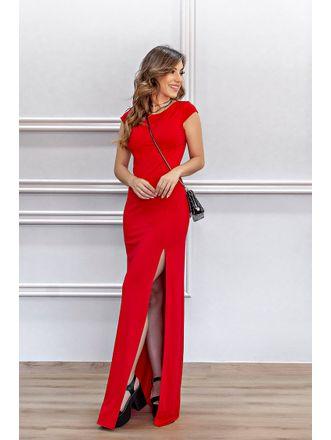 Vestido-Cintura-Aberta-Ternura-Vermelho
