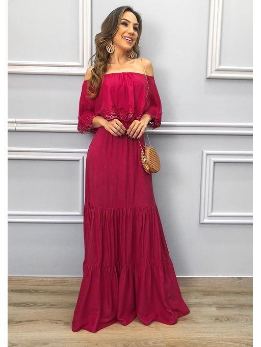a50cbfd3d Vestido Ombro a Ombro Poderosa Vermelho - Estacao Store