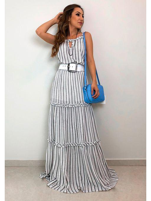 eeeaca75a Vestido Longo Stripe Cotton - Estacao Store