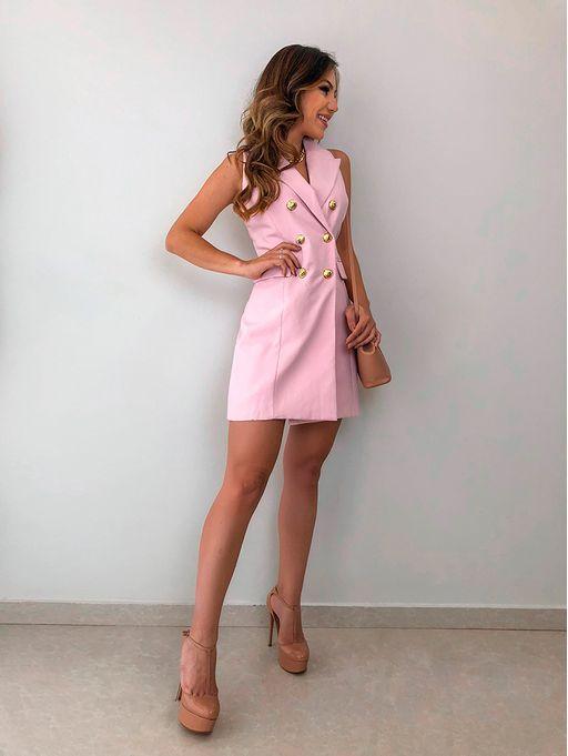 2c0865202 Vestido Botoes Dourados Carla Rosa - Estacao Store