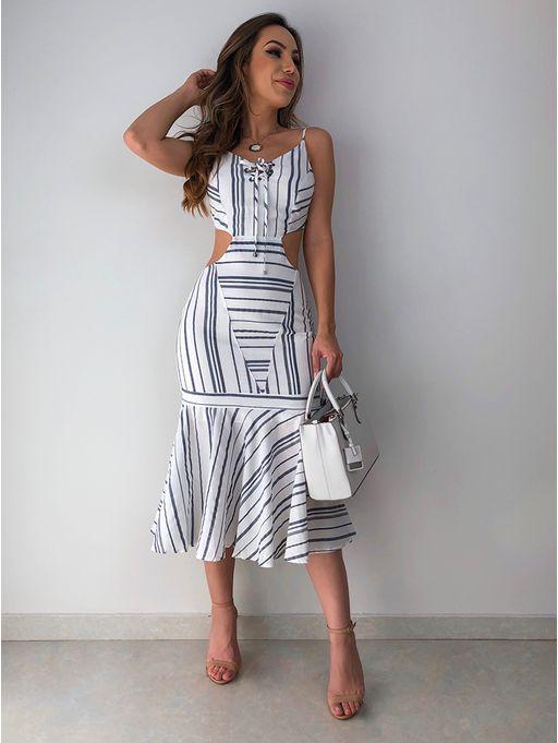 8de2126c3861 Vestido Listras Salete - Estacao Store