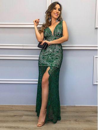 Vestido-Tule-Esmeralda
