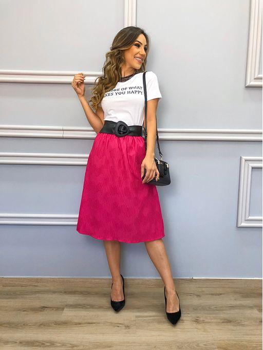 a9fa0e0c9a Saia Plisse Pink - Estacao Store