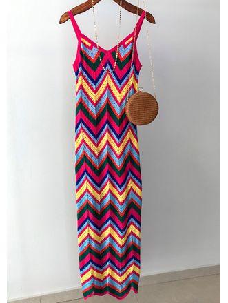 Vestido-Longo-Tricot-Chevron-Colorido