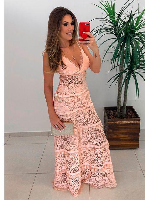 0f1a1ded4b Vestido Longo Renda Noronha - Estacao Store