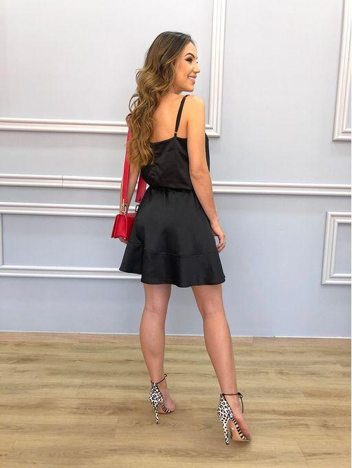Vestido-Satin-Black