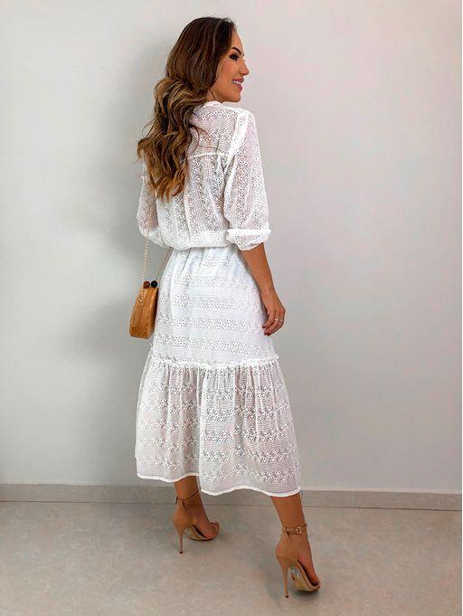 0916977b71 Vestido Resort Chiffon Bordado Genebra - Estacao Store
