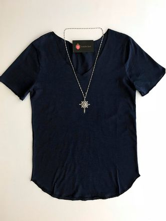 Blusa-Malha-Decote-v-Basic-Azul-Marinho