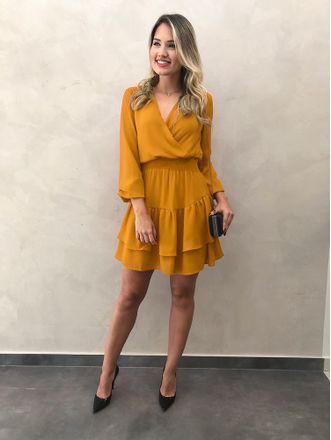 Vestido-Curto-Raquel-Mostarda