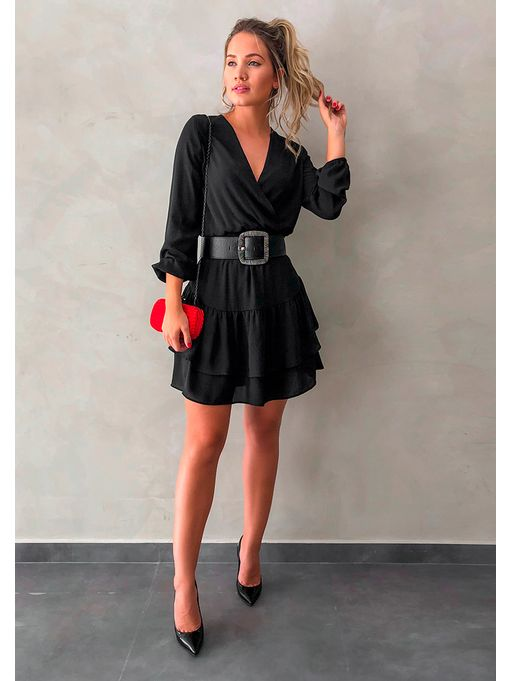 c519d941a Vestido Curto Raquel Preto - Estacao Store