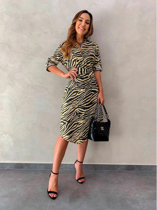 a06f331071 Vestido Zebra Laura - Estacao Store