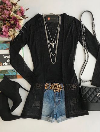 Cardigan-Glam-Black