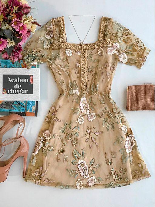 dc81930f4 Vestido Tule Bordado Amanda - Estacao Store