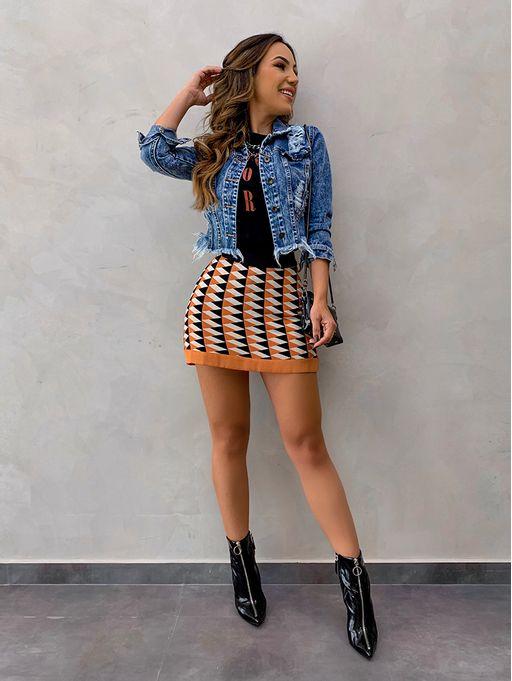 c806d833d Jaqueta Jeans Desfiada Curta - Estacao Store