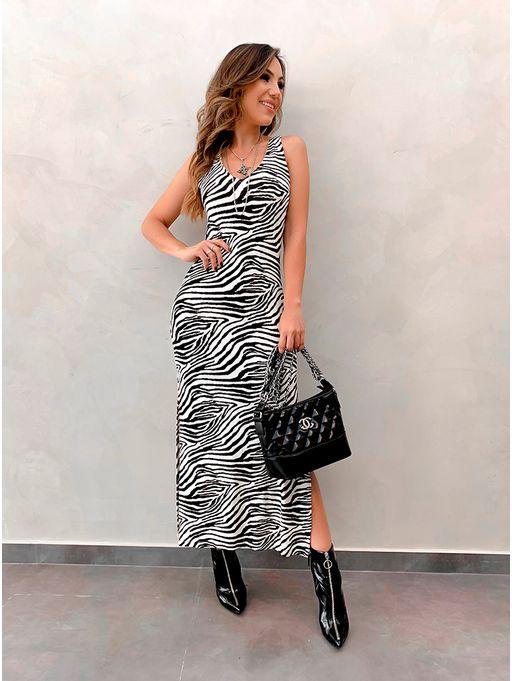 52ceb6a01c Vestido Zebra Charlise - Estacao Store