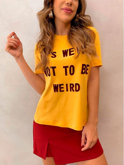 T-shirt-Weird-Mostarda