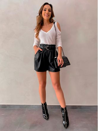 Shorts-Courino-Leticia-Black