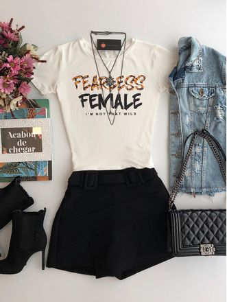 T-shirt-Fearless-Female-Off