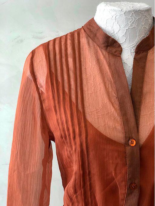 Vestido-Longo-Silk-Marrom