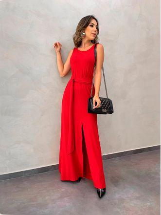 Vestido-Longo-Malha-Nayra-Vermelho