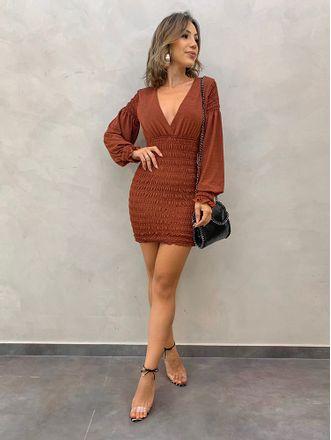 Vestido-Justo-Rebecca-Cognac