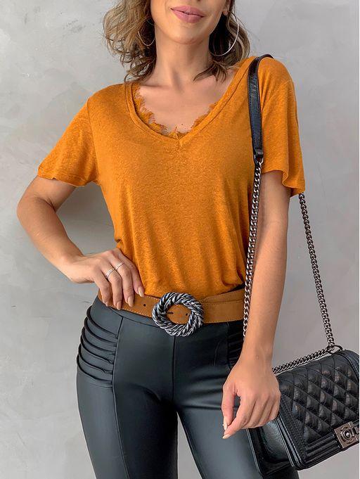 T-shirt-Decote-v-Tania-Mostarda