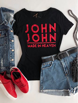 T-shirt-mc-John-John-Logo-Black-